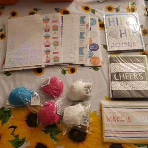 Wrapping supplies and stickers